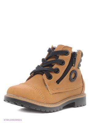 Ботинки Klin. Цвет: желтый