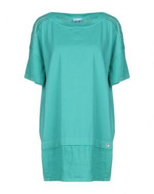 Короткое платье LA FABBRICA del LINO. Цвет: зеленый