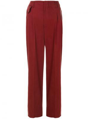 Строгие брюки с завышенной талией Golden Goose Deluxe Brand. Цвет: красный