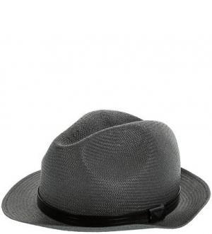Серая бумажная шляпа Emporio Armani. Цвет: серый