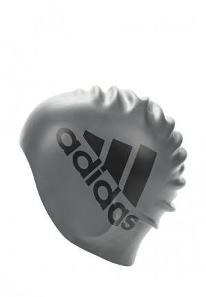 Шапочка для плавания adidas Performance. Цвет: серый