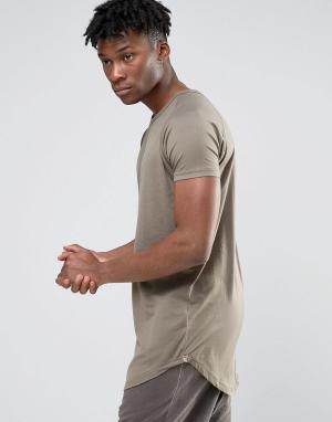 Other UK Удлиненная футболка. Цвет: серый