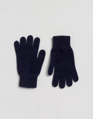 Glen Lossie Темно-синие кашемировые перчатки. Цвет: темно-синий