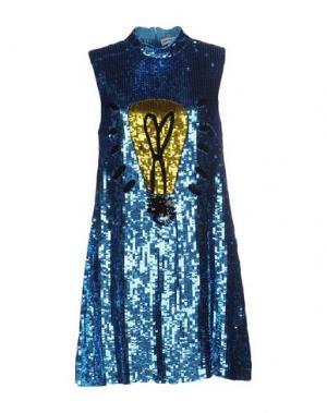 Короткое платье AU JOUR LE. Цвет: лазурный