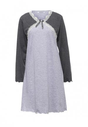 Сорочка ночная Cootaiya. Цвет: серый