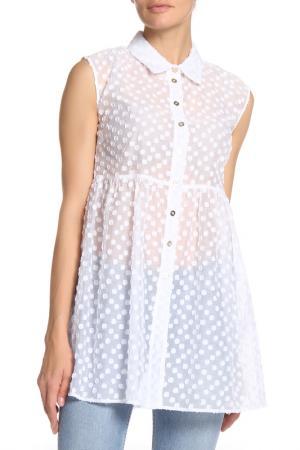 Платье-рубашка Anna Rachele. Цвет: белый