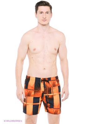 Шорты для пляжа и повседневной носки Speedo. Цвет: темно-синий, оранжевый
