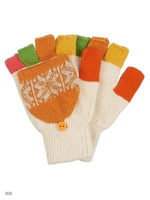 Перчатки lawiggi. Цвет: оранжевый, белый