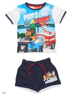 Комплект футболка, шорты Sun City. Цвет: синий