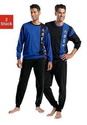 Пижама, Le Jogger (2 шт.). Цвет: чёрный + синий