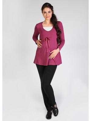 Блузка Мамуля красотуля. Цвет: бордовый