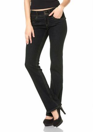 Моделирующие джинсы Arizona. Цвет: синий потертый, черный