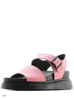 Босоножки Dr.Martens. Цвет: розовый