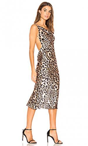Платье миди Amanda Uprichard. Цвет: коричневый