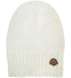 Вязаная шапка из акрила и шерсти R.Mountain. Цвет: молочный