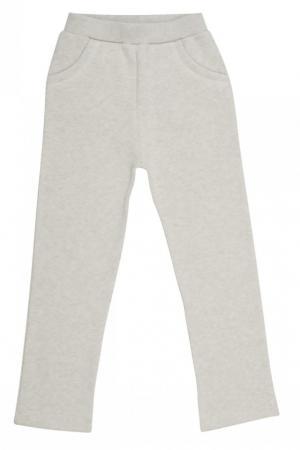Хлопковые брюки светло-серые Bonpoint. Цвет: none