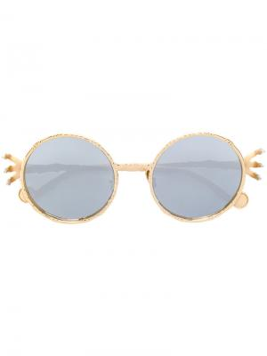 Солнцезащитные очки  Claw & Moon Anna Karin Karlsson. Цвет: металлический