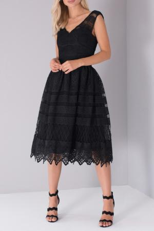 Платье CHI LONDON. Цвет: black