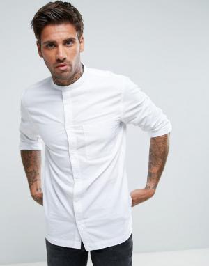Waven Рубашка с воротником на пуговице. Цвет: белый
