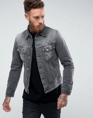 Nudie Jeans Джинсовая куртка Co Billy. Цвет: серый