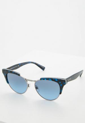 Очки солнцезащитные Valentino. Цвет: синий