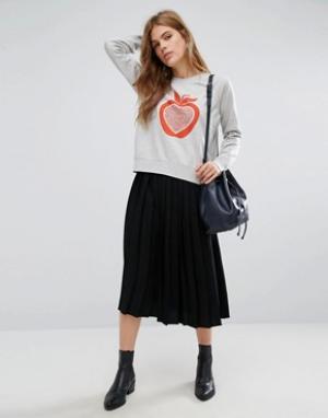 YMC Плиссированная юбка миди. Цвет: черный