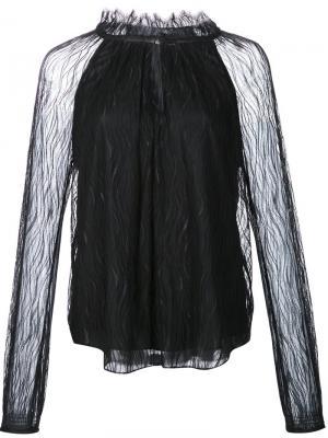 Блузка Carly Zac Posen. Цвет: чёрный