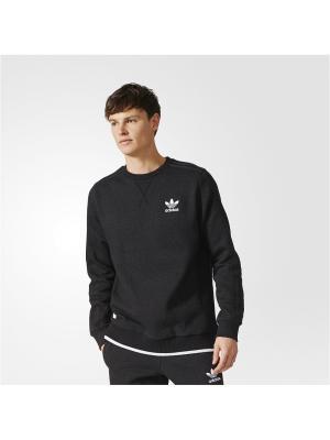 Джемпер ESSENTIALS CREW BLCKME Adidas. Цвет: черный