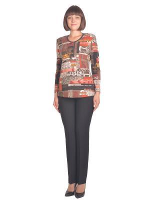 Кофточка Томилочка Мода ТМ. Цвет: коричневый, светло-коричневый, светло-оранжевый