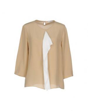 Блузка MADREPERLA. Цвет: верблюжий