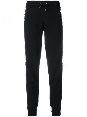 Зауженные спортивные брюки Versus. Цвет: чёрный