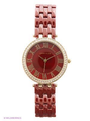 Часы ANNE KLEIN. Цвет: бордовый