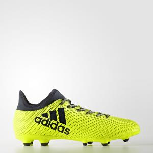 Футбольные бутсы X 17.3 FG/AG  Performance adidas. Цвет: желтый