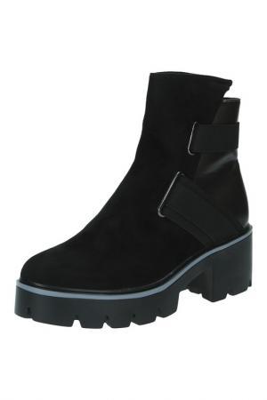 Ботинки MAKFLY. Цвет: черный, серебряный