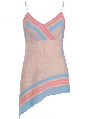 Silk blouse Giuliana Romanno. Цвет: розовый и фиолетовый