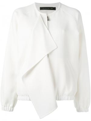 Куртка-бомбер с клапаном Barbara Bui. Цвет: белый