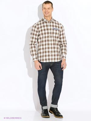 Рубашка LERROS. Цвет: бежевый, хаки