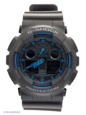 Часы G-SHOCK GA-100-1A2 CASIO. Цвет: черный