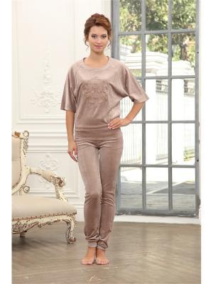 Комплект одежды CLEO. Цвет: коричневый