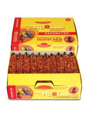 Лакомство для мелких и средних попугаев с мёдом (уп.30шт) TRIOL. Цвет: желтый