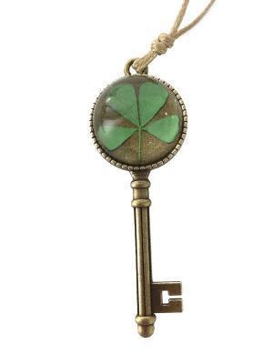Кулон КЛЮЧ зеленый BRADEX. Цвет: зеленый, бронзовый