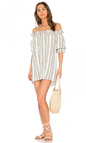 Платье miranda LoveShackFancy. Цвет: black & white
