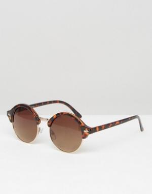 AJ Morgan Круглые солнцезащитные очки. Цвет: коричневый