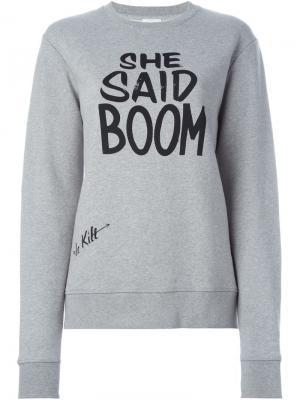 Толстовка She said boom Le Kilt. Цвет: серый