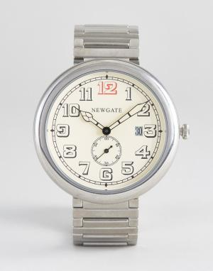 Newgate Часы с арабскими цифрами Liberty Grand. Цвет: серебряный