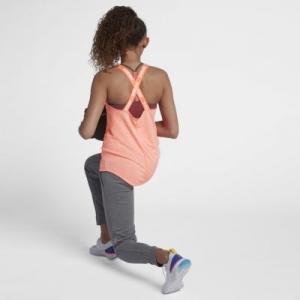 Майка для тренинга девочек школьного возраста  Dri-FIT Nike. Цвет: красный