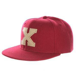 Бейсболка с прямым козырьком Truespin Abc Bordo X. Цвет: бордовый