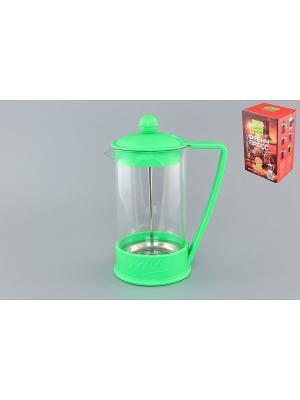 Чайник с поршнем Viva - LaCafe Green Elan Gallery. Цвет: салатовый, прозрачный