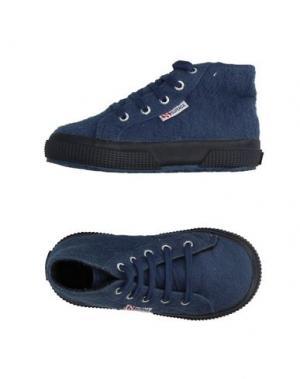 Высокие кеды и кроссовки SUPERGA®. Цвет: грифельно-синий