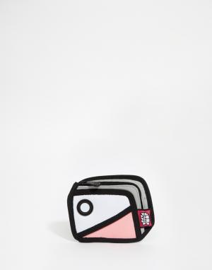 JumpFromPaper Кошелек в стиле колор блок. Цвет: розовый